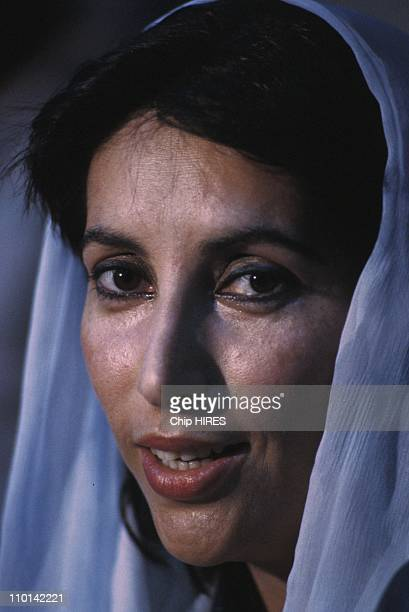 Benazir Bhutto in Karachi Pakistan on November 17 1988