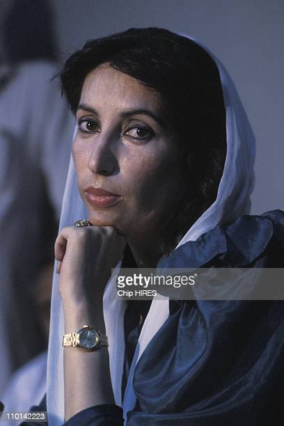Benazir Bhutto in Karachi Pakistan on November 17 1988