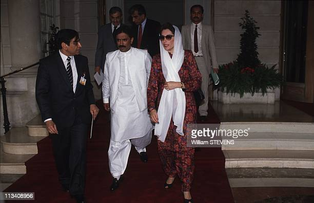 Benazir Bhutto In Paris In 1989