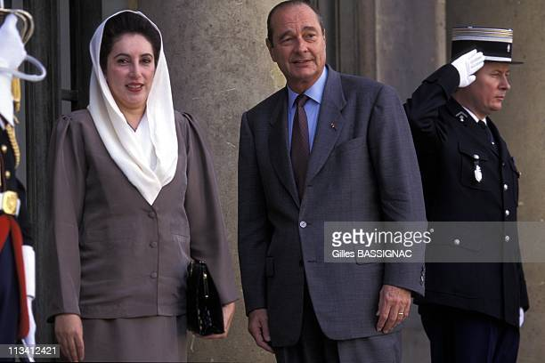 Benazir Bhutto In Paris On October 25th 1995