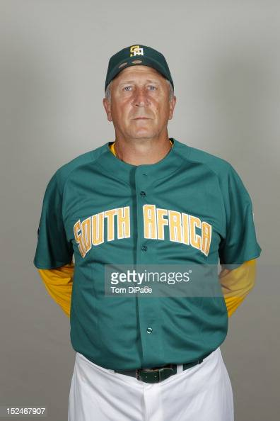 Bench coach Allan Phillips of Team South Africa poses for a head shot for the World Baseball Classic Qualifier at Roger Dean Stadium on September 17...