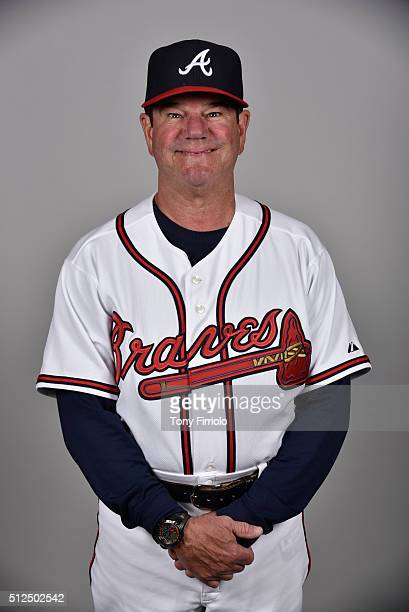 Bench coach Carlos Tosca of the Atlanta Braves poses during Photo Day on Friday February 26 2016 at Champion Stadium in Lake Buena Vista Florida