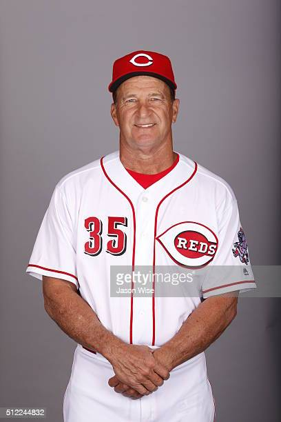 Bench coach Jim Riggleman # of the Cincinnati Reds poses during Photo Day on Wednesday February 24 2016 at Goodyear Ballpark in Goodyear Arizona