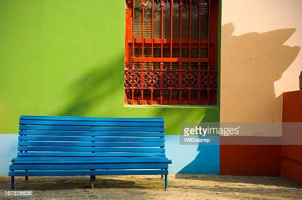 Sitzbank in der street, Cominito, La Boca