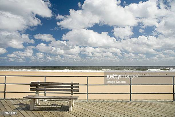 Bench on boardwalk
