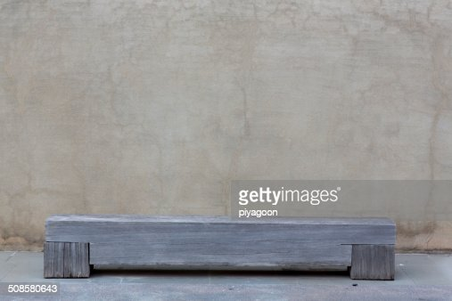 bench on gray background : Stock Photo