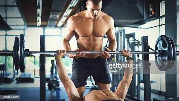 Bench press workout.