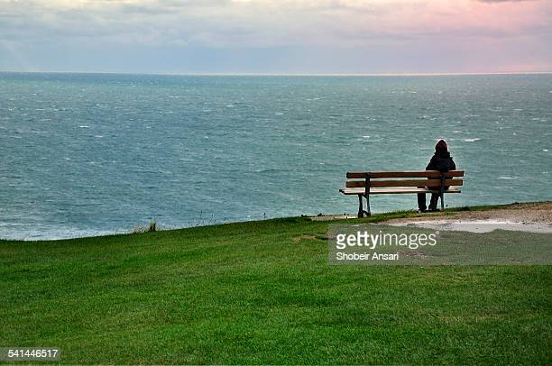 A bench with a view, Normandy