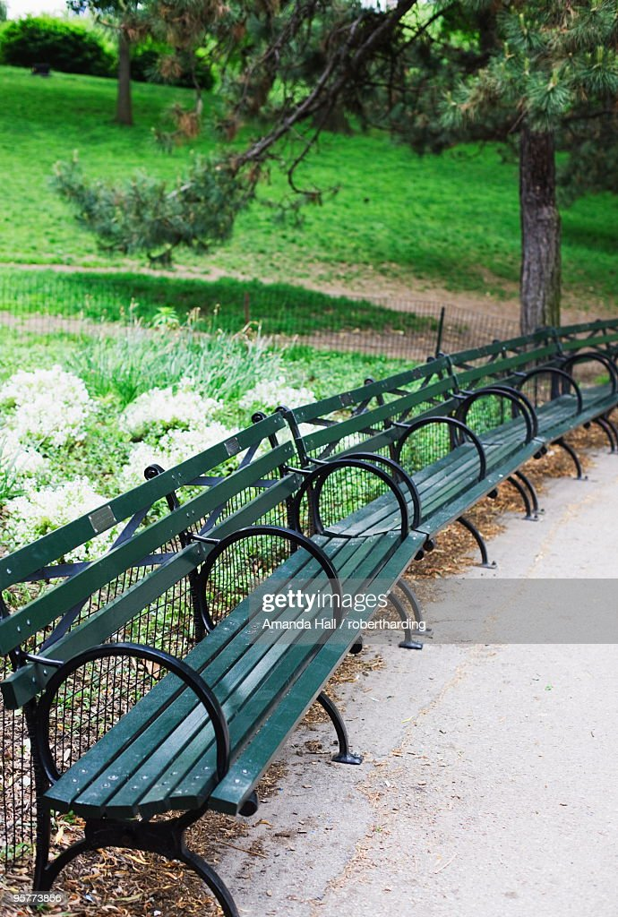Central City (NE) United States  City new picture : Benches Central Park Manhattan New York City New York United States Of ...