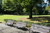 Benches in the park.