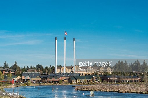 Bend Oregon Old Mill District by Deschutes River