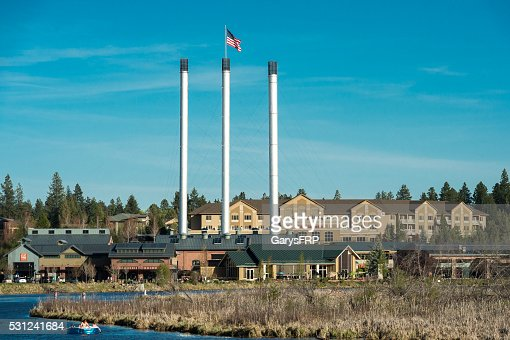 Bend Oregon with Deschutes River and the Old Mill District
