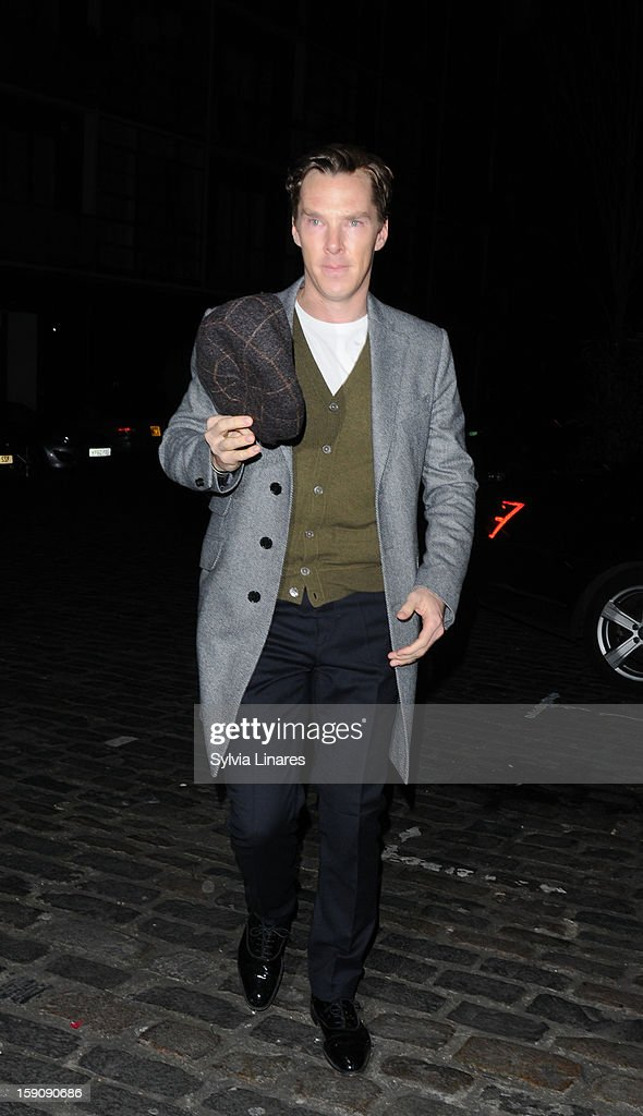 Bendict Cumberbatch sighting on January 7, 2013 in London, England.
