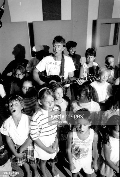 Bendiksen Lance Musician Homeless Children of Denver Sing the recording of Journey Home album at the F T M recording studio Credit The Denver Post
