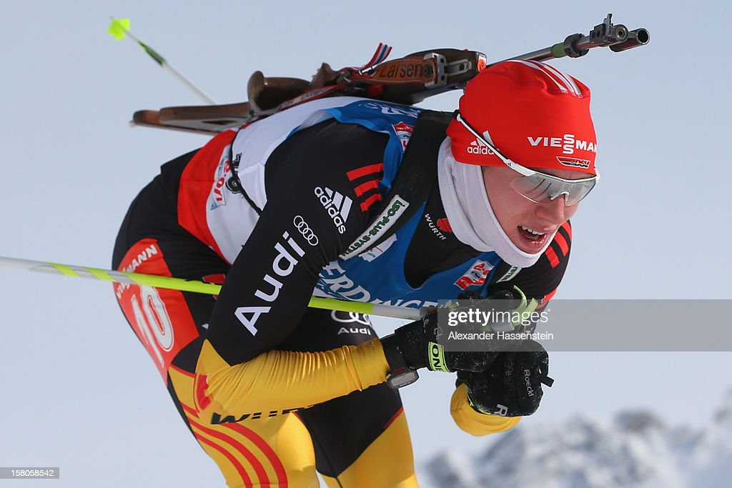 Bendikt Doll of Germany competes in the men's 10km sprint event during the IBU Biathlon World Cup on December 7, 2012 in Hochfilzen, Austria.