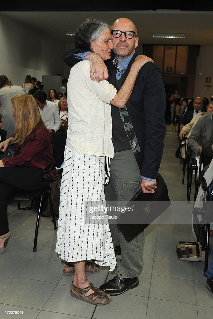 <a gi-track='captionPersonalityLinkClicked' href=/galleries/search?phrase=Benedetta+Barzini&family=editorial&specificpeople=5540225 ng-click='$event.stopPropagation()'>Benedetta Barzini</a> and Antonio Marras attend Antonio Marras Receives Honorary Degree From Academy of Fine Arts of Brera on June 12, 2013 in Milan, Italy.