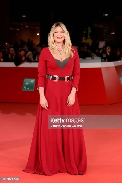 Benedetta Mazza walks a red carpet for 'Prendre La Large' during the 12th Rome Film Fest at Auditorium Parco Della Musica on October 29 2017 in Rome...