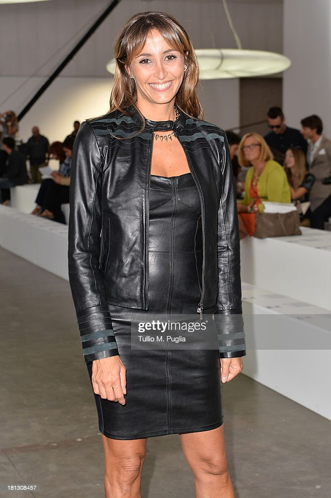 Benedetta Parodi attends the Iceberg show as a part of Milan Fashion Week Womenswear Spring/Summer 2014 on September 20, 2013 in Milan, Italy.