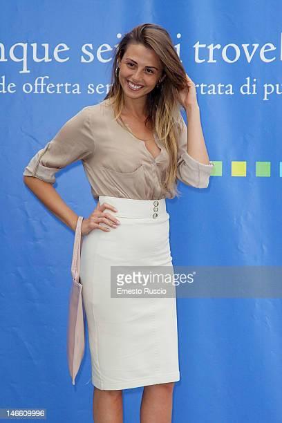 Benedetta Valanzano attends the Palinsesti Rai photocall at Cavalieri Hilton Hotel on June 20 2012 in Rome Italy