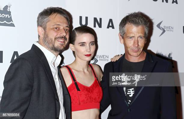 Benedict Andrews actors Ben Mendelsohn and Rooney Mara attend the 'UNA' New York VIP screening at Landmark Sunshine Cinema on October 4 2017 in New...