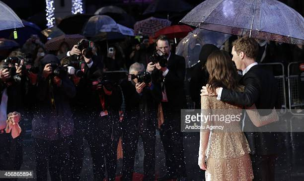 Benedict Cumberbatch and Keira Knightley attend the opening night gala screening of 'The Imitation Game' during the 58th BFI London Film Festival at...