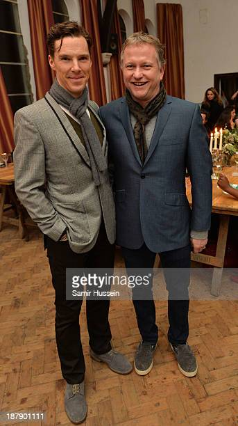 Benedict Cumberbatch and Nick Jones at the Soho House and Grey Goose party to celebrate the CineCity film festival on November 13 2013 in Brighton...