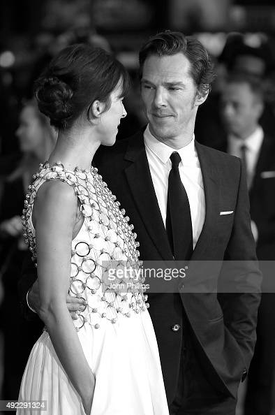 Benedict Cumberbatch and Sophie Hunter attend the 'Black Mass' Virgin Atlantic Gala screening during the BFI London Film Festival at Odeon Leicester...