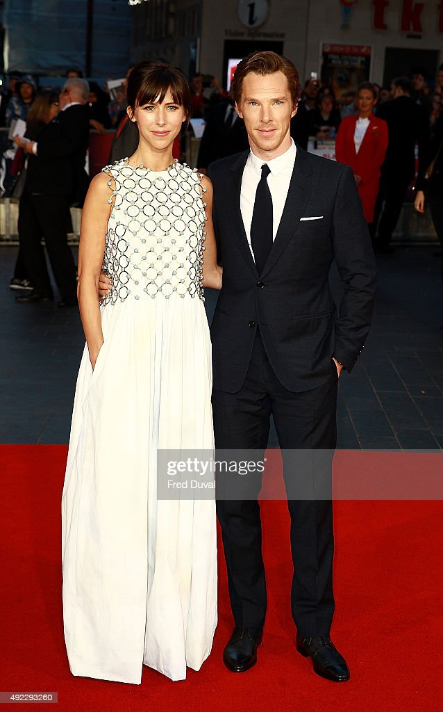 Benedict Cumberbatch and Sophie Hunter attend the 'Black Mass' Virgin Atlanitc Gala during the BFI London Film Festival at Odeon Leicester Square on October 11, 2015 in London, England.