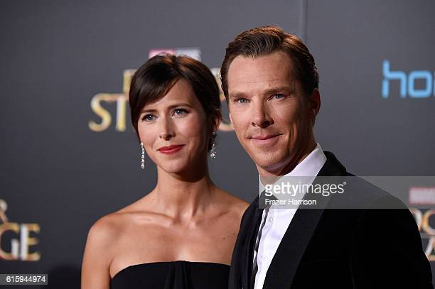 Benedict Cumberbatch and Sophie Hunter attend the premiere of Disney and Marvel Studios' 'Doctor Strange' at the El Capitan Theatre on October 20...