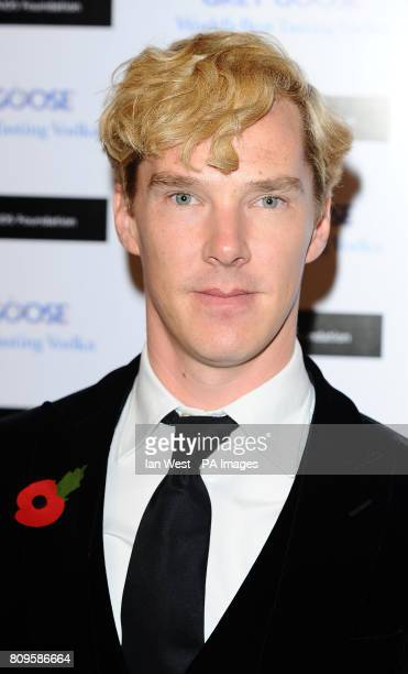 Benedict Cumberbatch arrives at the Grey Goose Winter Ball to benefit the Elton John Aids Foundation at Battersea Evolution in London