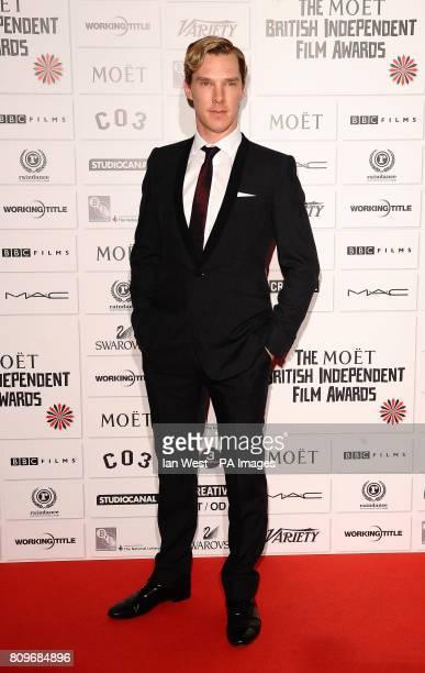 Benedict Cumberbatch arrives at the Moet British Independent Film Awards at Old Billingsgate Market in London