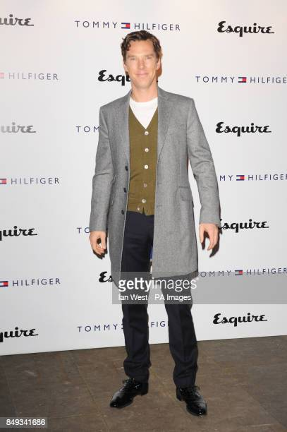 Benedict Cumberbatch arrives at the Tommy Hilfiger and Esquire party celebrating the second London CollectionsMen at the Zetter Townhouse in London