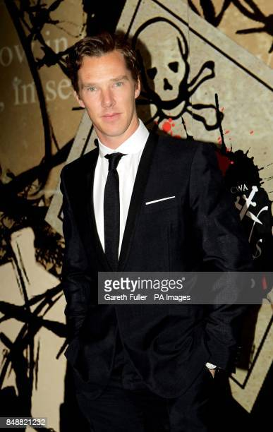 Benedict Cumberbatch arrives for the Specsavers Crime Thriller Awards at the Grosvenor House Hotel London