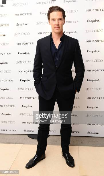 Benedict Cumberbatch arriving at the Esquire Mr Porter London Collections Mens Party at the Corinthia Hotel in London