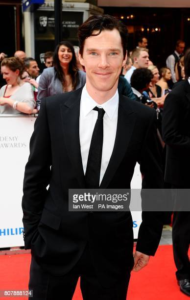 Benedict Cumberbatch arriving for the BAFTA television awards at the London Palladium