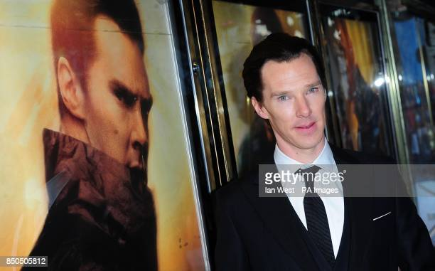 Benedict Cumberbatch arriving for the premiere of Star Trek Into Darkness at the Empire Leicester Square London