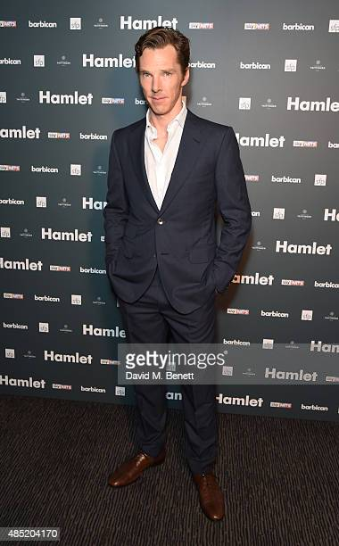 Benedict Cumberbatch attends an after party following the press night performance of 'Hamlet' at the Barbican Centre on August 25 2015 in London...