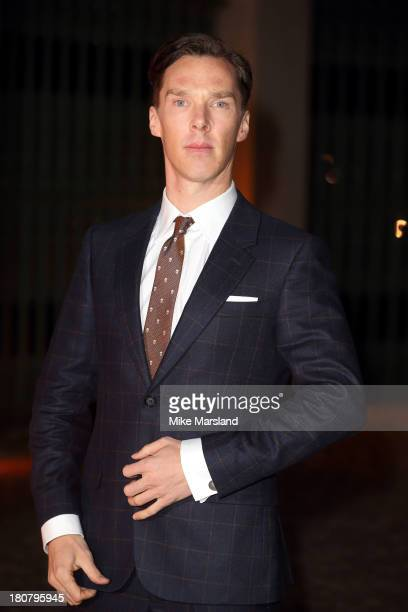 Benedict Cumberbatch attends an evening celebrating with The Global Fund featuring the first green carpet challenge at Apsley House on September 16...