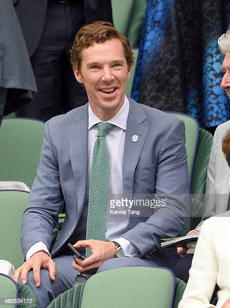 Benedict Cumberbatch attends day 13 of the Wimbledon Tennis Championships at Wimbledon on July 12 2015 in London England