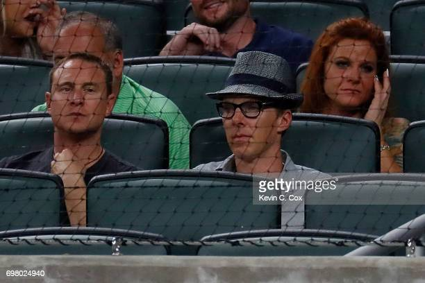 Benedict Cumberbatch attends the game between the Atlanta Braves and the San Francisco Giants at SunTrust Park on June 19 2017 in Atlanta Georgia