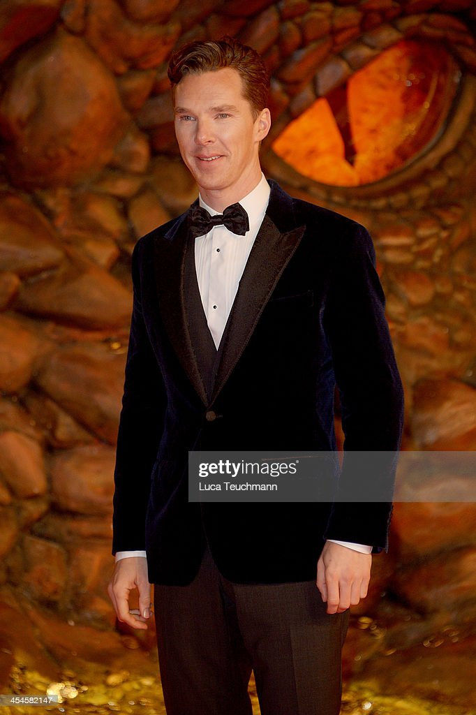 <a gi-track='captionPersonalityLinkClicked' href=/galleries/search?phrase=Benedict+Cumberbatch&family=editorial&specificpeople=2487879 ng-click='$event.stopPropagation()'>Benedict Cumberbatch</a> attends the German premiere of the film 'The Hobbit: The Desolation Of Smaug' (Der Hobbit: Smaugs Einoede) at Sony Centre on December 9, 2013 in Berlin, Germany.