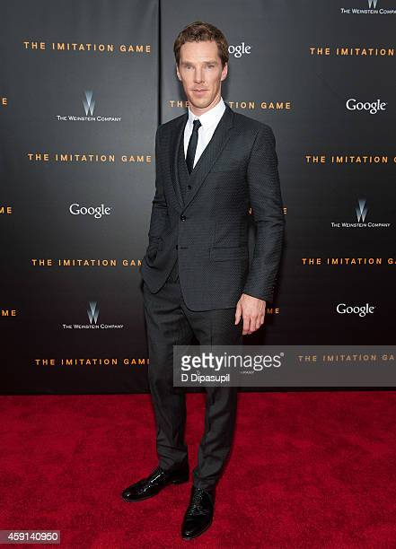 Benedict Cumberbatch attends 'The Imitation Game' New York Premiere at the Ziegfeld Theater on November 17 2014 in New York City