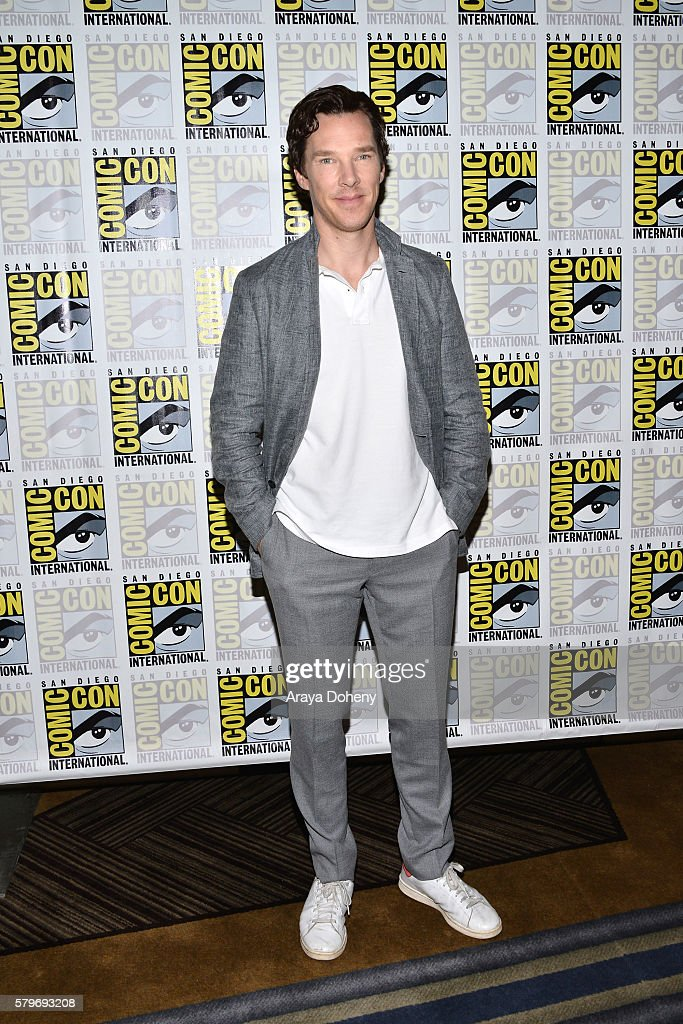 Benedict Cumberbatch attends the 'Sherlock' press line at Comic-Con International 2016 - Day 4 on July 24, 2016 in San Diego, California.