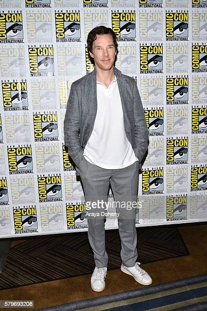 Benedict Cumberbatch attends the 'Sherlock' press line at ComicCon International 2016 Day 4 on July 24 2016 in San Diego California