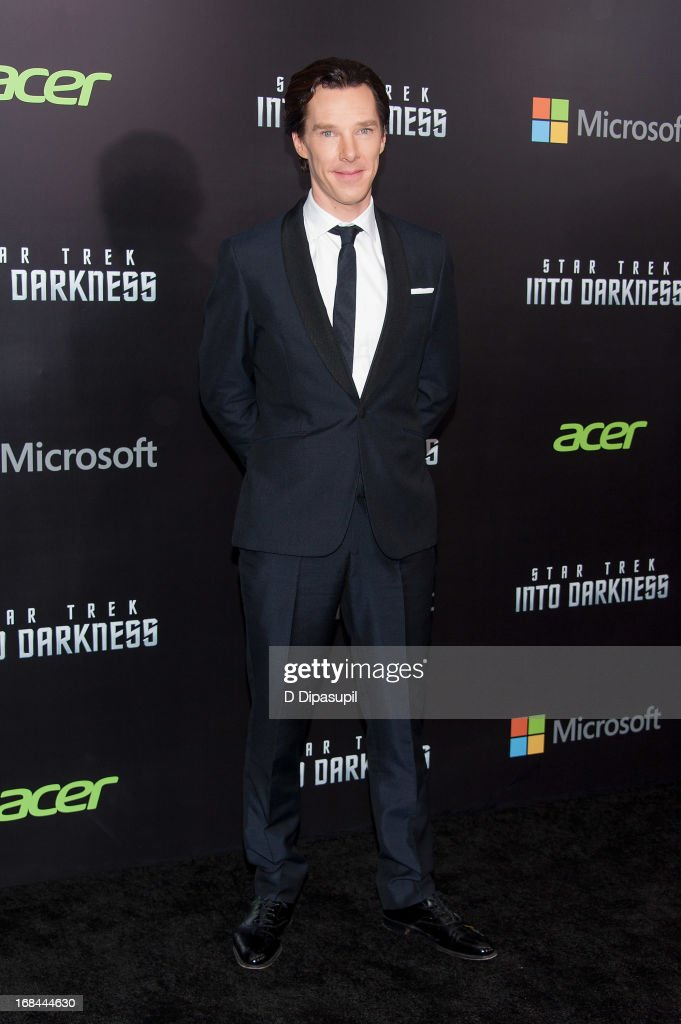 <a gi-track='captionPersonalityLinkClicked' href=/galleries/search?phrase=Benedict+Cumberbatch&family=editorial&specificpeople=2487879 ng-click='$event.stopPropagation()'>Benedict Cumberbatch</a> attends the 'Star Trek Into Darkness' screening at AMC Loews Lincoln Square on May 9, 2013 in New York City.