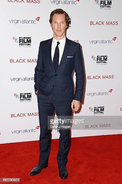 Benedict Cumberbatch attends the Virgin Atlantic Gala screening of 'Black Mass' during the BFI London Film Festival at Odeon Leicester Square on...