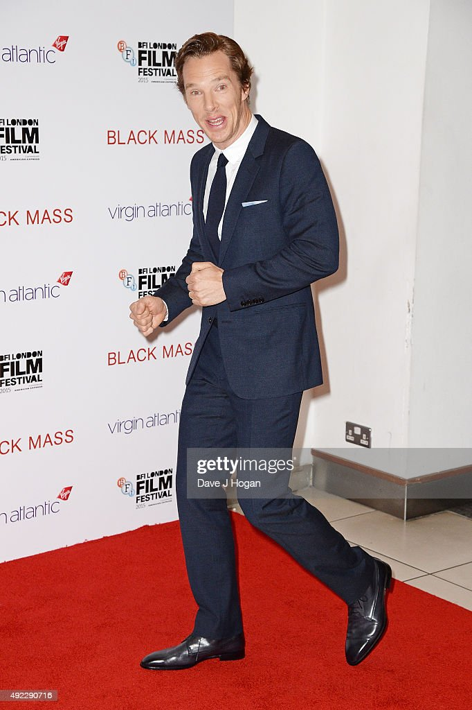 Benedict Cumberbatch attends the Virgin Atlantic Gala screening of 'Black Mass' during the BFI London Film Festival at Odeon Leicester Square on October 11, 2015 in London, England.