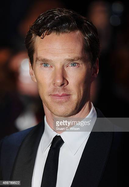 Benedict Cumberbatch attends the World Premiere of 'The Hobbit The Battle OF The Five Armies' at Odeon Leicester Square on December 1 2014 in London...
