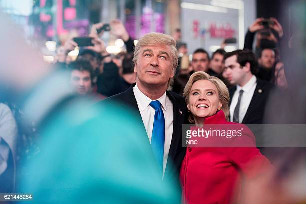 LIVE 'Benedict Cumberbatch' Episode 1709 Pictured Alec Baldwin as Republican Presidential Candidate Donald Trump and Kate McKinnon as Democratic...