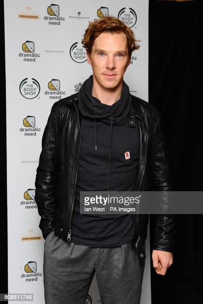 Benedict Cumberbatch is seen at the afterparty of the one off play The Childrens Monologues in aid of charity Dramatic Need at the Old Vic in London